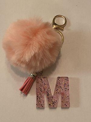 Pink letter M Pom Pom keychain for Sale in Wichita, KS