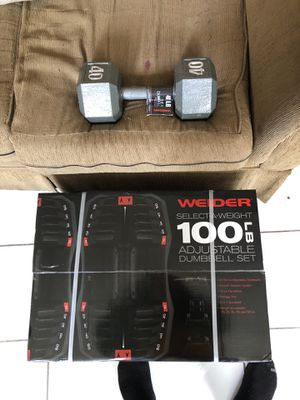 New Weider 100LB Adjustable Dumbbell Set for Sale in Los Angeles, CA