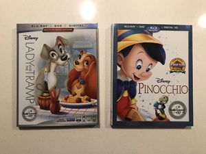 Lady and the Tramp, Pinocchio bundle for Sale in Aurora, CO