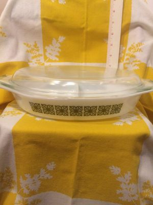 Pyrex square flowers divided dish for Sale in Vero Beach, FL