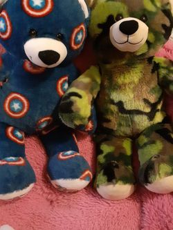 2 Build A Bears Captain America And Army Bear for Sale in Greenwood,  IN