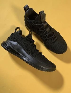 New Nike Lebron 15 Low Triple Black XV AO1755 004 Basketball Shoes 10.5 Mens for Sale in Ontarioville, IL