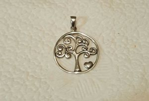 Genuine 1.2 Inch .925 Solid Sterling Silver Tree Of Life Heart Pendant. for Sale in Providence, RI