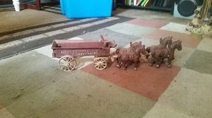cast iron fresh vegetable wagon horse team for Sale in Biloxi, MS