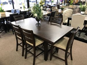 7-pcs dining table on sale @Elegant Furniture 🛋🎈 for Sale in Fresno, CA