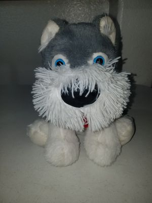 GREY AND WHITE STUFFED ANIMAL DOG for Sale in Hesperia, CA
