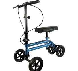 KneeRover Knee Scooter Steerable Knee Walker Crutch - Metallic Blue for Sale in Newcastle,  WA