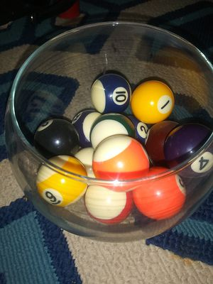 Set of vintage mini pool balls for Sale in Snohomish, WA