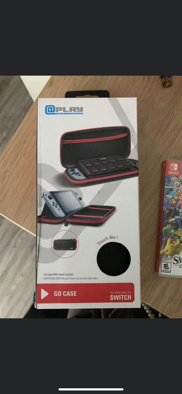 Super Smash Bros Ultimate + Nintendo Switch case