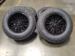 17x9.5 offset +15 and 6x139.7 falken tires new for Sale in Montclair, CA