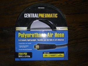 """Brand New Unopened Condition CentralPneumatic Polyurethane Air Hose 250PSI 50' x 1/4"""" for Sale in Coldwater, MS"""