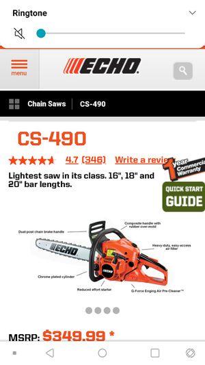 Echo CS-490 chainsaw gas powered for Sale in Oklahoma City, OK
