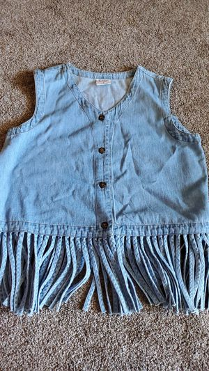Denim fringed vest for Sale in Phoenix, AZ