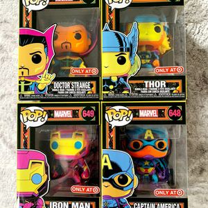 Marvel Black Light Funko Pop Bundle for Sale in Mansfield, CT