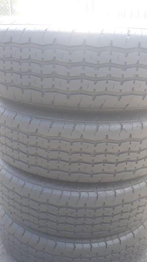 Set of trailer tires installed 225 75 15 for Sale in Atlanta, GA
