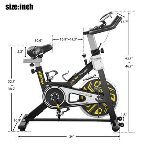 Merax CYS400 Indoor Cycling Bike Fitness Trainer Exercise Bike Health Workout with Digital LCD Monitor and Wheel, Yellow for Sale in Stanton, CA
