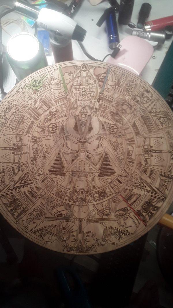 Star Wars Aztec Calender Color By Number