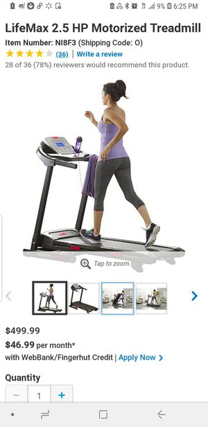 Brand new Lifemax treadmill. (Assembled) 2 available for Sale in Smyrna, TN