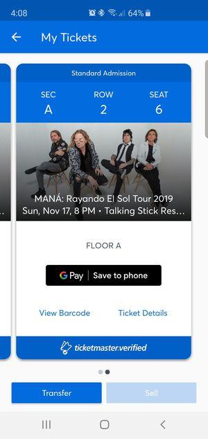 1 Mana ticket for Sale in Phoenix, AZ