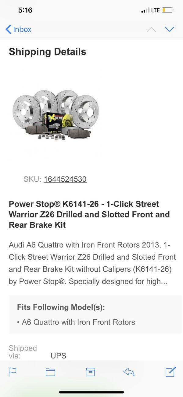 Drilled nd slotted rotors