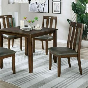 WALNUT / GRAY 5 PIECE KITCHEN DINING TABLE SET for Sale in Jurupa Valley, CA