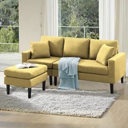 Brand New Small Yellow Sectional  for Sale in Marietta, GA