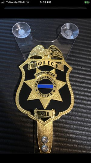 Police Support Car Windshield Badge for Sale in North Bergen, NJ