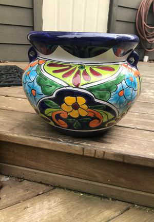 Ceramic painted planter for Sale in Brandon, MS