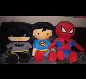 Batman Superman and Spider-Man stuffed animals new for Sale in Smyrna, GA
