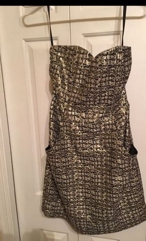 Gold and black strapless dress for Sale in Springfield, VA