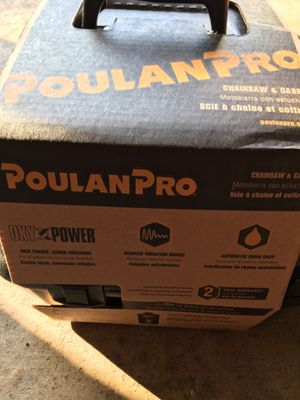 Brand new. Never used Poulan Pro 18 inch gas chain saw. $100.00 for Sale in Lexington, KY