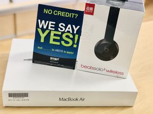 No Credit Needed! 2017 MacBook Air with Beats Solo 3 Black Friday Bundle $39 down take it home today! for Sale in Ontario, CA