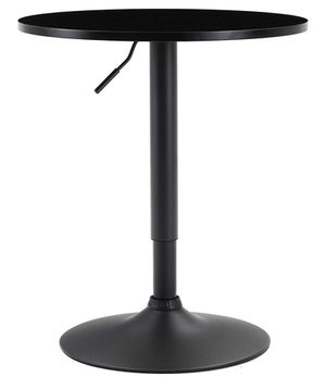 "BTEXPERT sale Industrial Adjustable 27-36"" Height Metal Bar Table Swivel 23.8 Round MDF Wood Top Cocktail Pub Bistro Black Base for Sale in Brea, CA"
