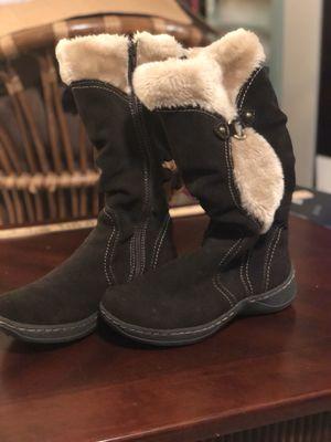 BareTraps Brown Leather Faux Fur Boots for Sale in Redmond, WA