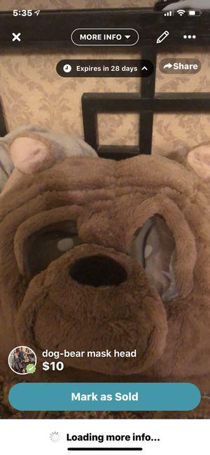 Bear/dog costume head for Sale in Abilene, TX