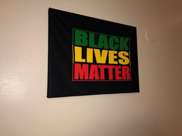 BLACK LIVES MATTER CUSTOM PRINTS ON CANAVAS High QUALITY 12 X 16 inch High