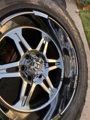 20 inch rims with one good tire for Sale in Houston, TX