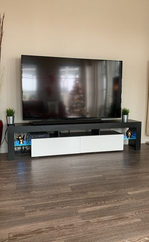 NEW tv stand entertainment center changes colors! for Sale in Portland, OR