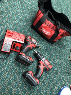 Combo Drill set, Tools-Power Milwaukee In Case W/ 2 Batteries & Charger for Sale in Baltimore, MD