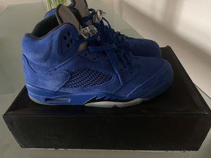 """Jordan retro 5 """" Blue Suede"""" size 10 for Sale in Manassas, VA"""