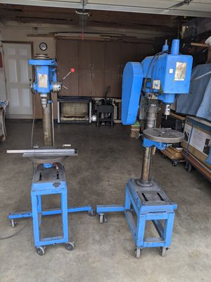 """18""""DRILL PRESS """"LINN YIN"""" ON LOCKABLE ROLLING CASTERS, 1/2 HP MOTOR IN GREAT CONDITION, SEE MORE BELOW for Sale in Ontario, CA"""