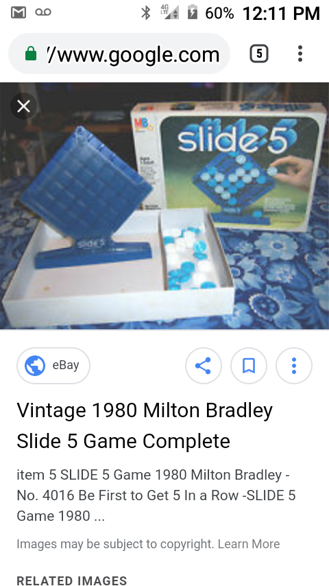 Vintage Slide 5 board game for Sale in Akron, OH - OfferUp