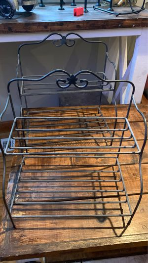 Longaberger two tier basket stand Bakers Rack for Sale in Norfolk, VA