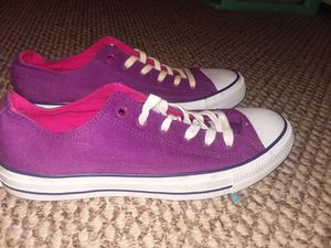 Purple Converse All Star Low Top Shoes (NEW) for Sale in Casselberry, FL
