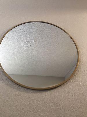 Gold round mirror for Sale in Fullerton, CA