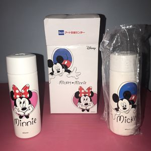 Collectible Disney Mickey Mouse Minnie Mouse Aluminum Flask Bottle Set Of Two for Sale in Des Plaines, IL