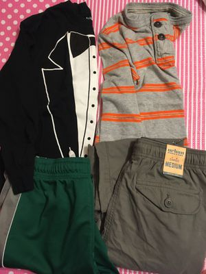 Size medium size 8-10 clothing for kids boy long sleeve long pants gap Cherokee for Sale in Redmond, WA