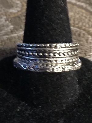 Silver Eternity Flower band Ring set for Sale in Mesilla Park, NM