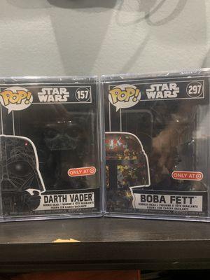 Boba Fett & Darth Vader Target Exclusive Star Wars Funko Pop! for Sale in San Antonio, TX