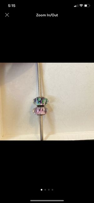 Authentic Pandora Murano glass charms for Sale in Rockville, MD